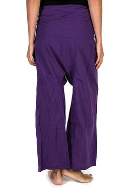 Purple Fisherman Pants
