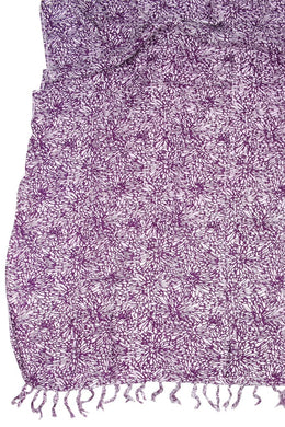 Purple Flower Sarong
