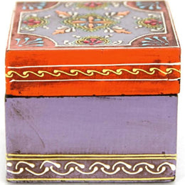 Purple Henna Pill Box