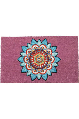 Purple Mandala Coir Doormat