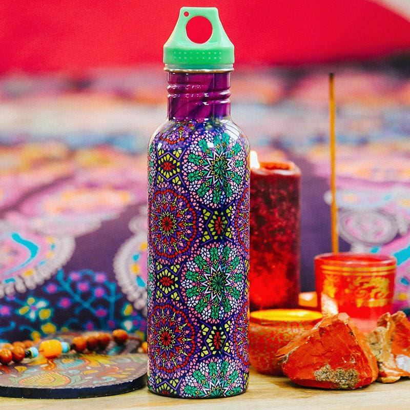Purple Mosaic Stainless Steel Water Bottle