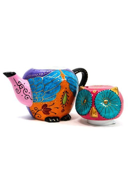 Purple Owl Teapot