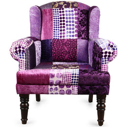 Purple Patchwork Armchair