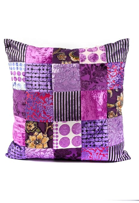 Purple Patchwork Cushion