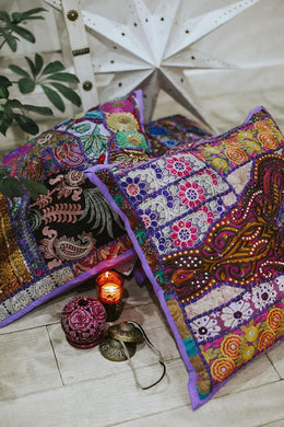 Purple Suti Cushion
