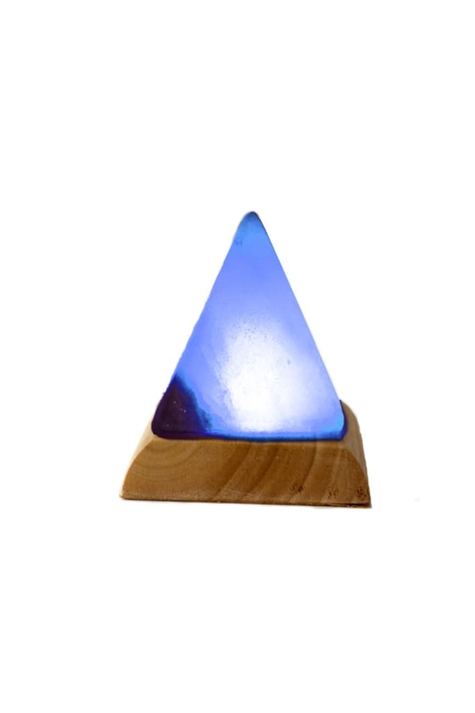Pyramid Mini Usb Salt Lamp - Colour Changing
