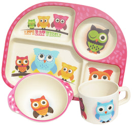 Bim Bam Boo Kids Dining Set 'Owls'