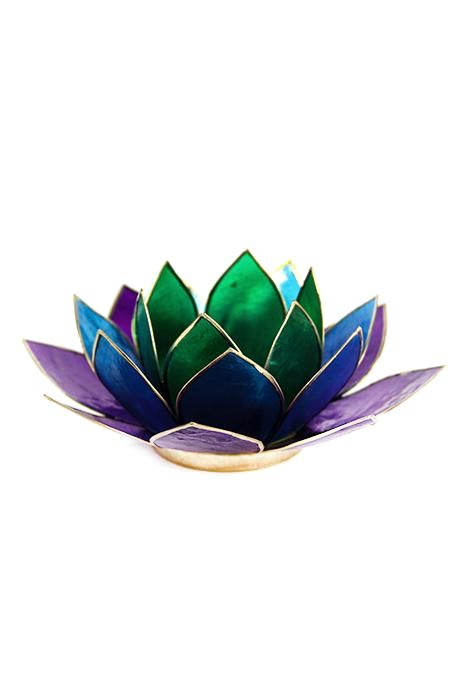 Rainbow Lotus Tealight Holder