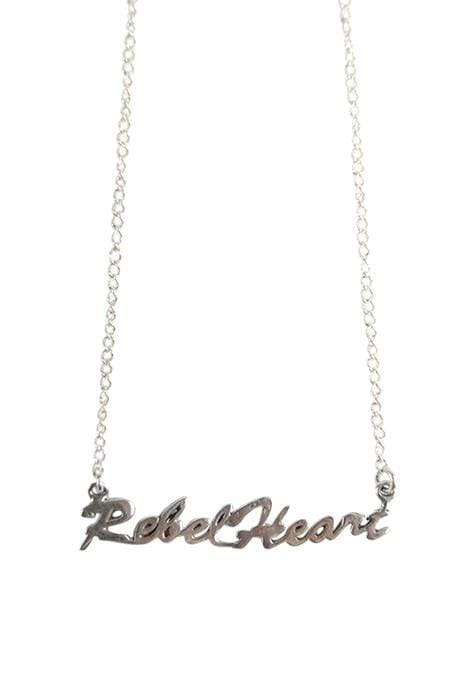 Rebel Heart Silver Necklace