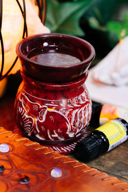 Red Elephant Soapstone Oil Burner