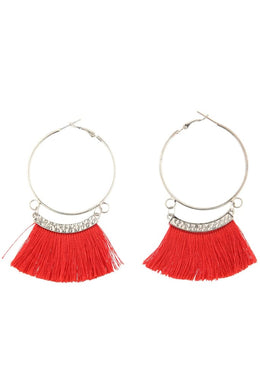 Red Fringing Hoops