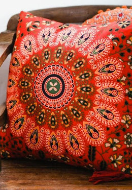 Red Mandala Cushion