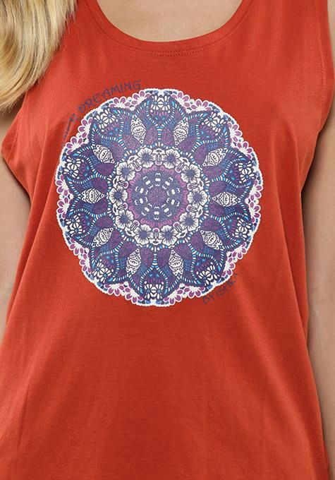 Red Mandala Tank Top