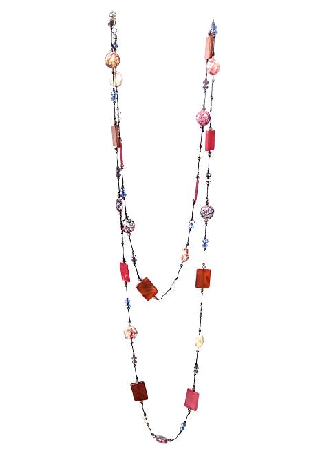 Red Natural Stone Necklace