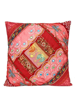 Red Sari Cushion