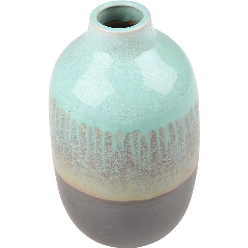 Reflective Glaze Celadon & Grey Pot