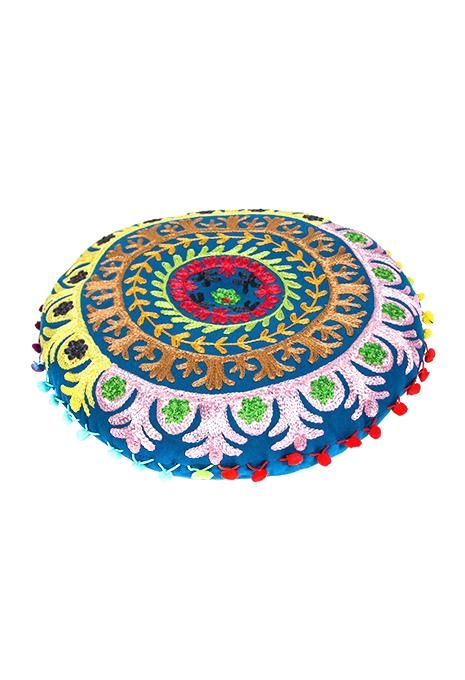 Round Embroidered Gaddi