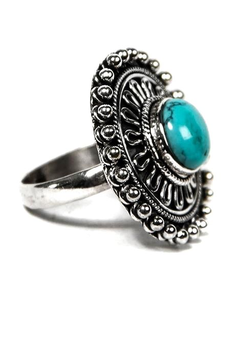 Round Mandala Ring With Assorted Stone
