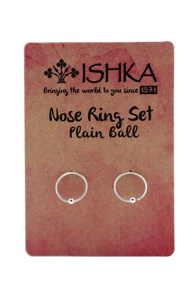 Set of 2 Silver Nose Rings