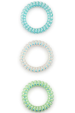 Set Of 3 Large Spiral Hair Bands