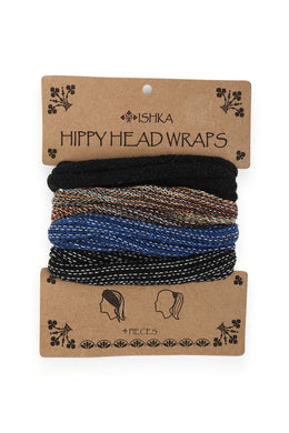 Set Of 4 Hippy Head Wraps