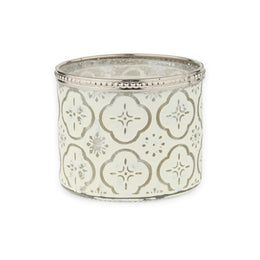 Silver Boho Candle Glass