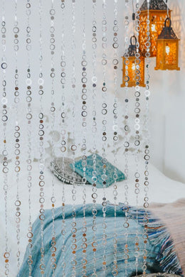 Silver Circles Beaded Curtain