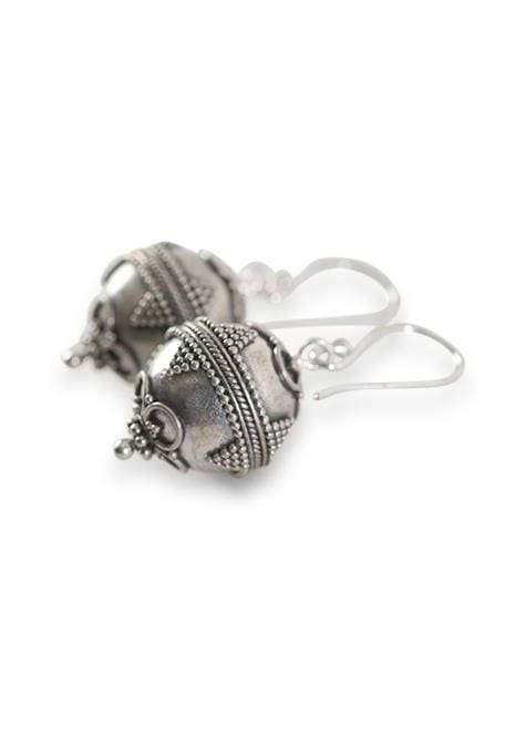 Silver Dot Detail Ball Earrings