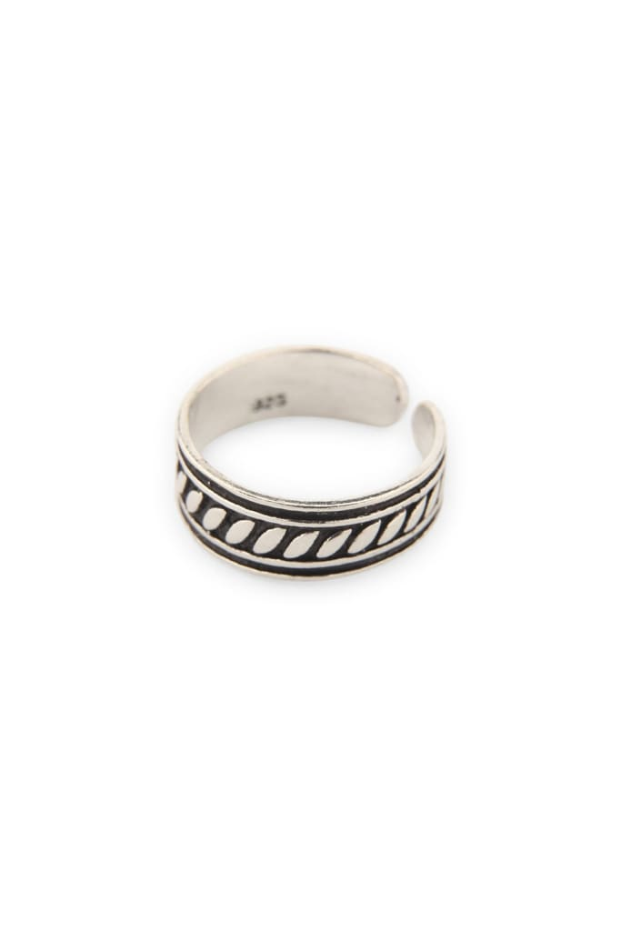 Silver Tribal Toe Ring