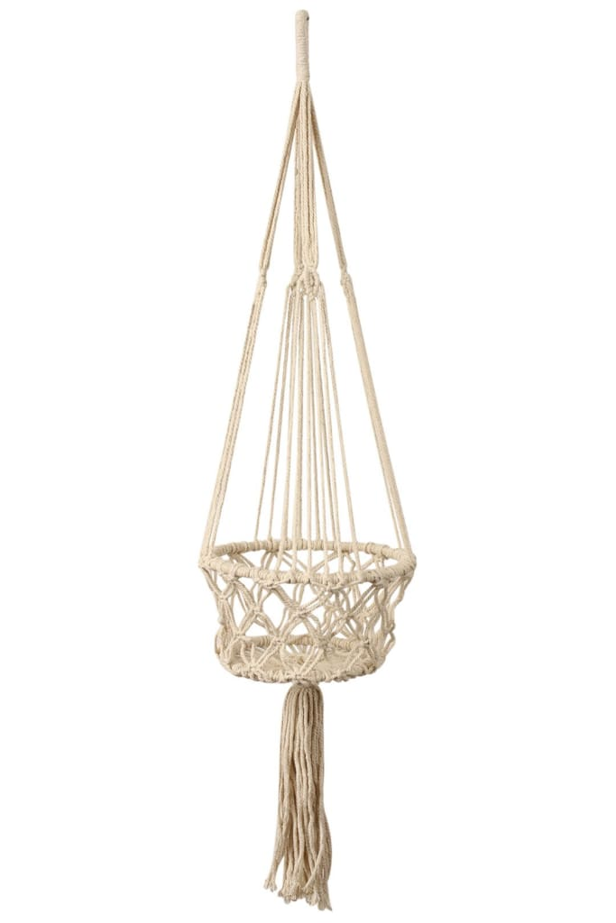 Single Macrame Pot Plant Hanger