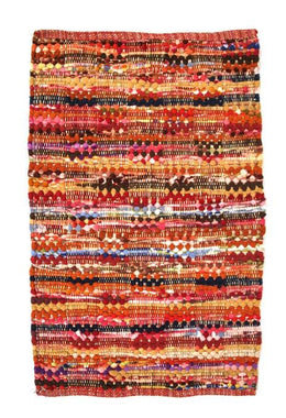 Small Chindi Pedal Weave Rug