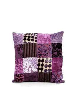 Small Purple Patchwork Cushion