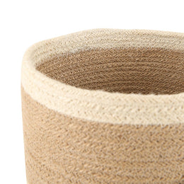 Small Striped Jute Basket