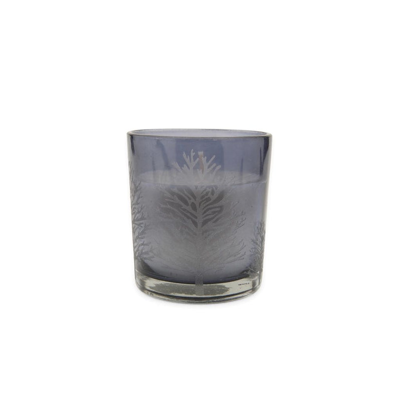 Small Tree Candle Glass