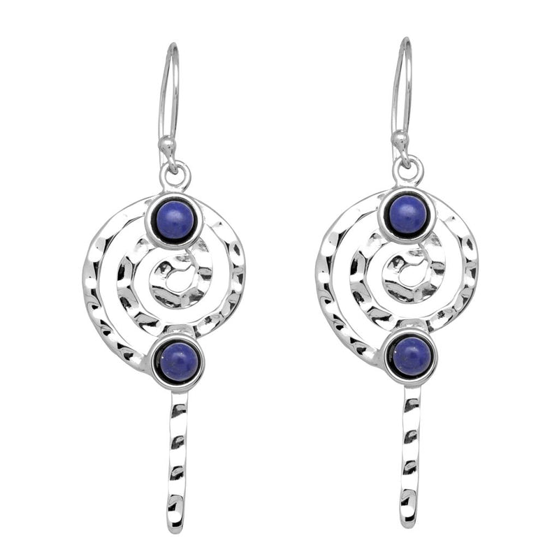 Spiral Lapis Earrings