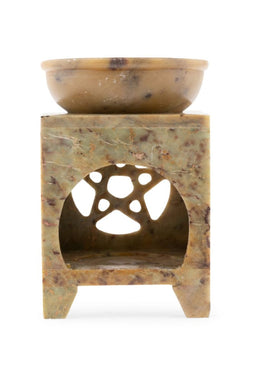 Square Pentacle Soapstone Oil Burner