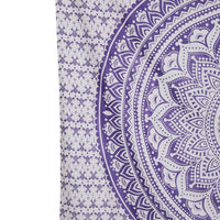 Square Purple Mandala Bedspread