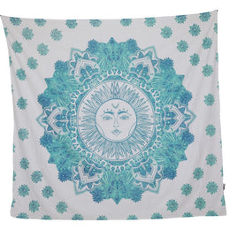 Square Turquoise Sun Bedspread