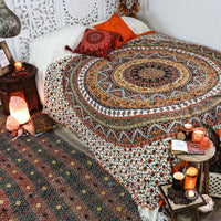 Star Red Mandala Bedspread