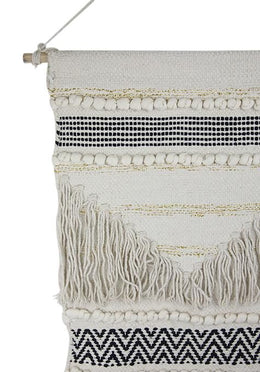 Striped Fringe Wallhanging