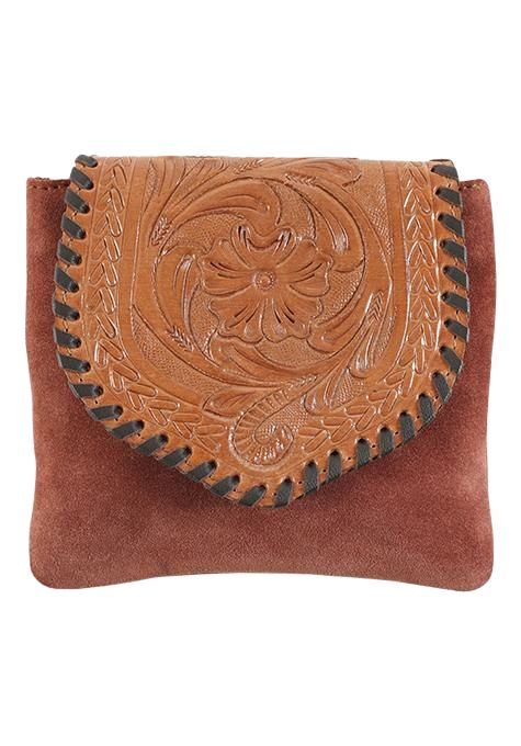 Suede Leather Festival Clutch