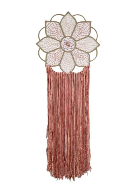 Suede Lotus Dreamcatcher
