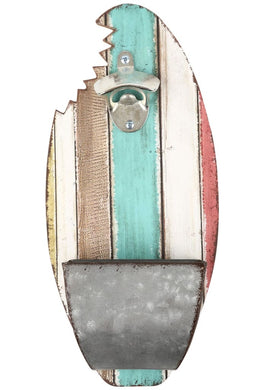 Surfs Up Bottle Opener Board