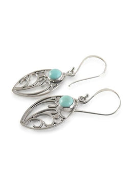 Swirl Turquoise Earrings
