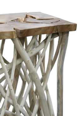 Teak Twig Console Table