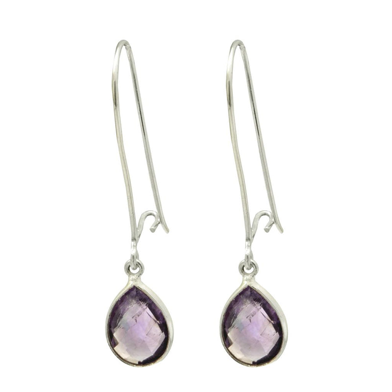 Teardrop Earrings - Amethyst