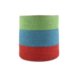 Three Colour Jute Basket