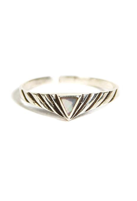 Triangle Enamel Ring