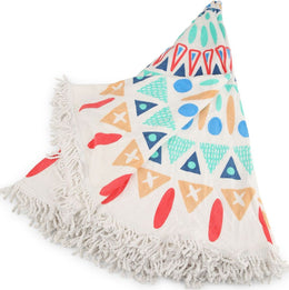 Tribal Round Beach Towel