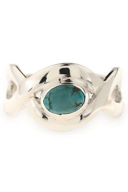 Turquoise Infinity Ring